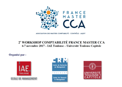 2e Workshop Comptabilité France Master CCA 2017