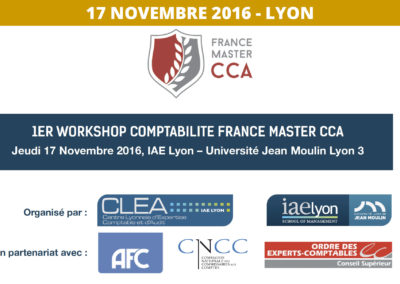1er Workshop Comptabilité France Master CCA 2016