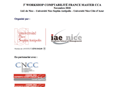 3e Workshop Comptabilité France Master CCA 2018