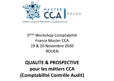 5ème workshop France Master CCA